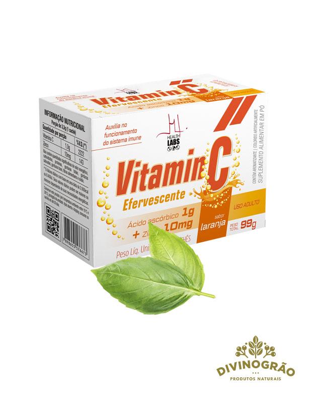 VITAMINA C 1G + ZINCO 10Mg  HEALTH LABS 👩⚕️
