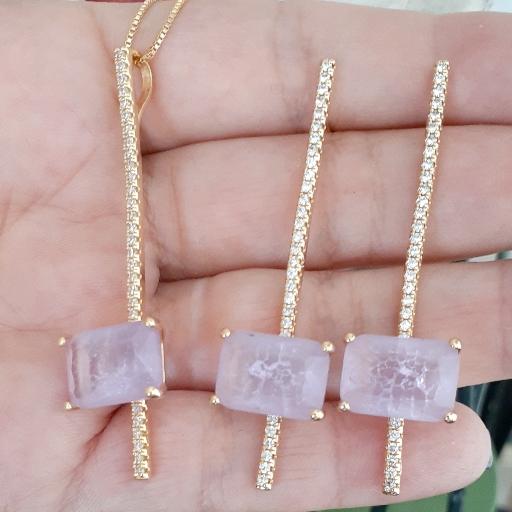 Conjunto Cristal Fusion Lavanda com Microzircônias