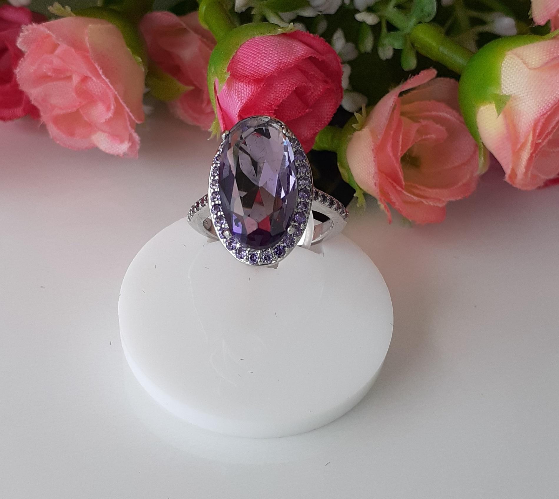 Anel Cristal  com microzirconia