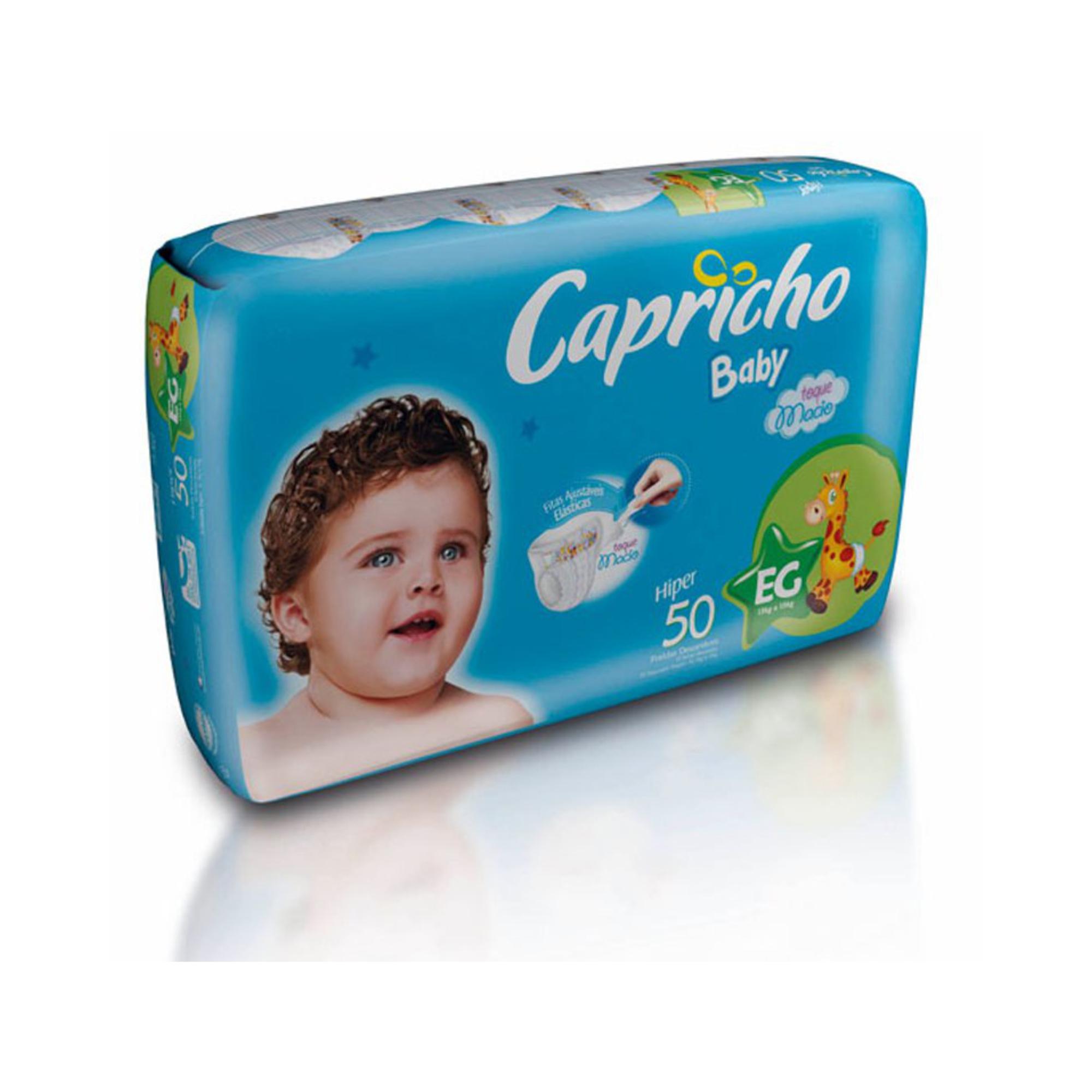 FRALDA CAPRICHO BABY, EG 50 FRALDAS PACOTE HIPER
