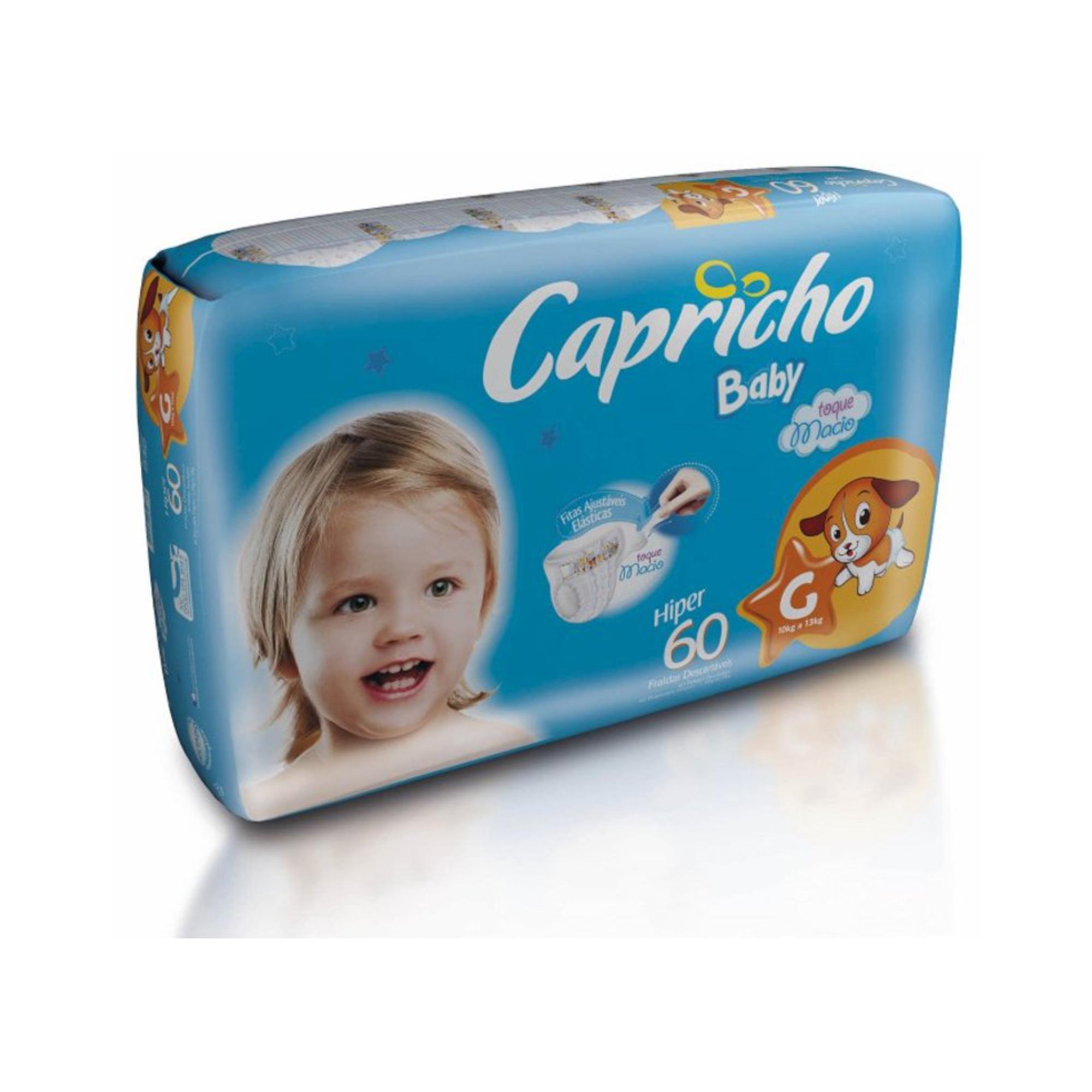 FRALDA CAPRICHO BABY, G 60 FRALDAS PACOTE HIPER